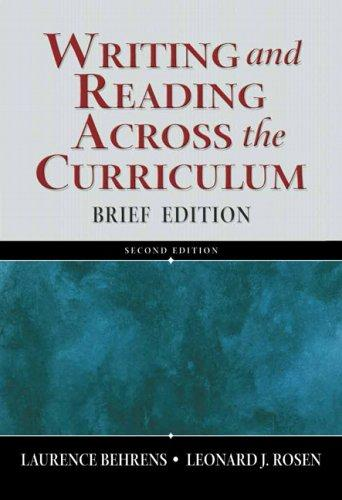 Writing and reading across the curriculum