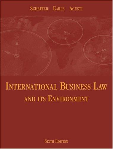 Download International business law and its environment