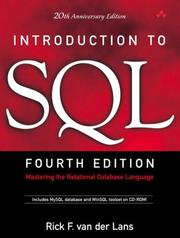 Introduction To SQL: Mastering The Relational Database Language ; 20Th Anniversary Edition ; [Includes MySQL Database And WinSQL Toolset On CD-ROM] PDF Download