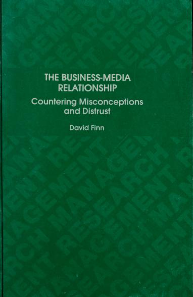 The business-media relationship by David Finn