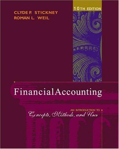 Financial Accounting by Clyde P. Stickney, Roman L. Weil